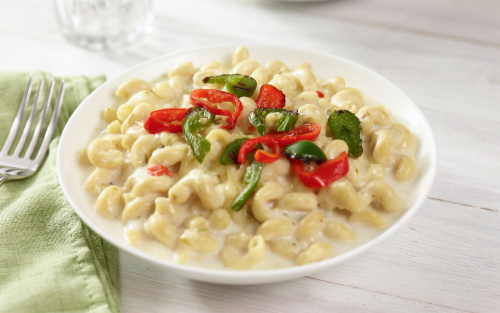 JTM Hatch Chile Macaroni and Cheese Perspective: top