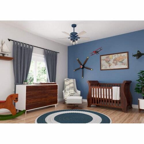 Hunter Fan Company Hartland 44 Inch Small Room Ceiling Fan w/ LED Light, Indigo Perspective: top