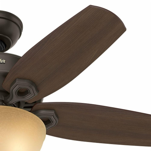 "Hunter Fan Company 52218 Builder 42"" Indoor Home Ceiling Fan w/Light, New Bronze Perspective: top"