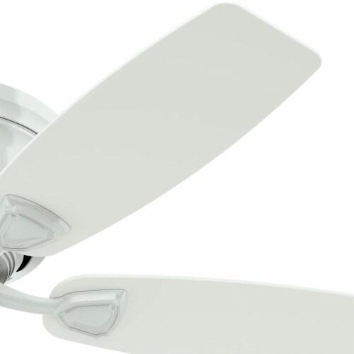 """Hunter Fan Company 53119 Sea Wind Versatile Low Profile 48"""" Ceiling Fan, White Perspective: top"""