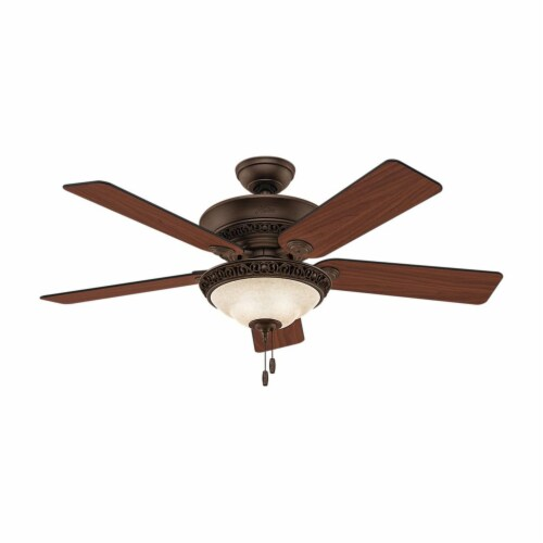 Hunter Fan Company 53200 Italian Countryside Ceiling Fan with Light, P.A. Cocoa Perspective: top