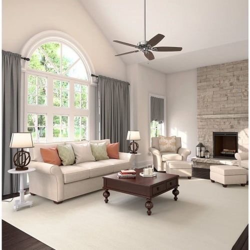 Hunter Fan Company Builder Elite Quiet Home Ceiling Fan with Pull Chain - Brushed Nickel Perspective: top