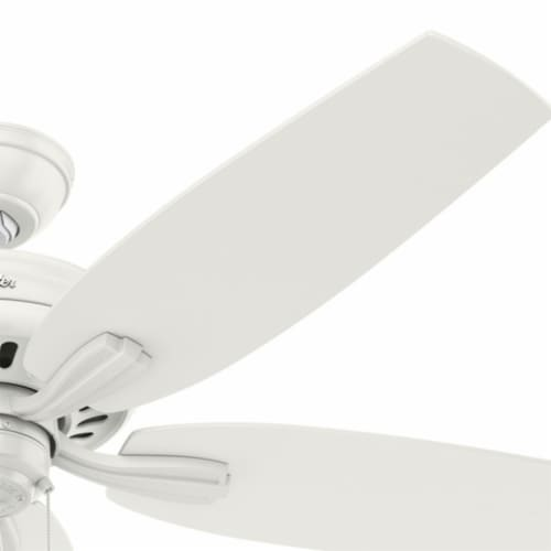 """Hunter Newsome 52"""" Indoor/Outdoor Home Ceiling Fan with Pull Chain, Fresh White Perspective: top"""