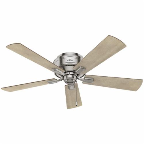 "Hunter Crestfield 52"" Quiet Indoor Ceiling Fan w/ LED Lights , Brushed Nickel Perspective: top"
