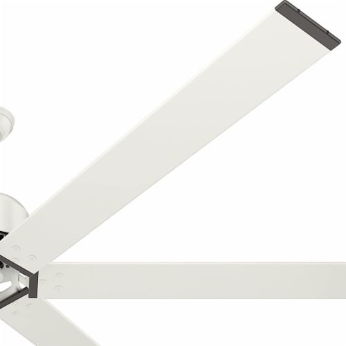 Hunter Fan Company 96 Inch Indoor or Outdoor Industrial Ceiling Fan, Fresh White Perspective: top
