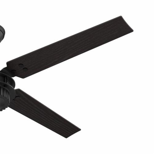 "Hunter Fan Company 54"" Chronicle Industrial Ceiling Fan w/ Control, Matte Black Perspective: top"
