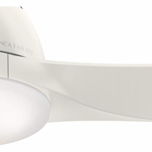 Hunter Fan Casablanca 52-Inch Ceiling Fan with LED Lights and 3 Blades, White Perspective: top