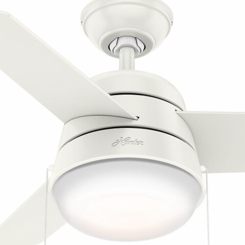 Hunter Fan Company Aker 32 Inch Indoor Ceiling Fan with LED Light Kit, White Perspective: top
