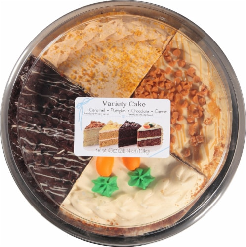 Rich's Bakery Autumn Variety Double Layer Cake Perspective: top