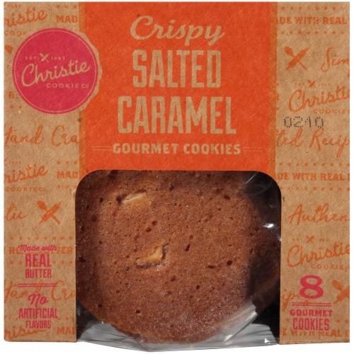 Christie Cookie Co. Crispy Salted Caramel Gourmet Cookies Perspective: top