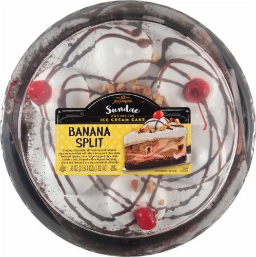 Jon Donaire Banana Split Ice Cream Cake Perspective: top