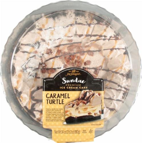 Jon Donaire™ Caramel Turtle Ice Cream Cake Perspective: top