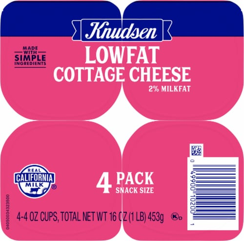 Knudsen On the Go Low Fat Cottage Cheese Snack Pack Perspective: top