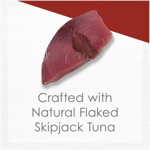 Fancy Feast Purely Natural Flaked Skipjack Tuna Entree Grain Free Broth Wet Cat Food Perspective: top