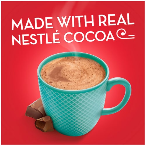 Nestle Fat Free Rich Milk Chocolate Hot Cocoa Mix Perspective: top
