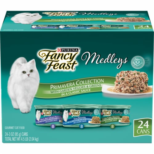 Fancy Feast Medleys Gourmet Primavera Collection Wet Cat Food Perspective: top