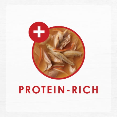 Fancy Feast Classic Broths with Tuna Anchovies & Whitefish Wet Cat Food Pouch Perspective: top