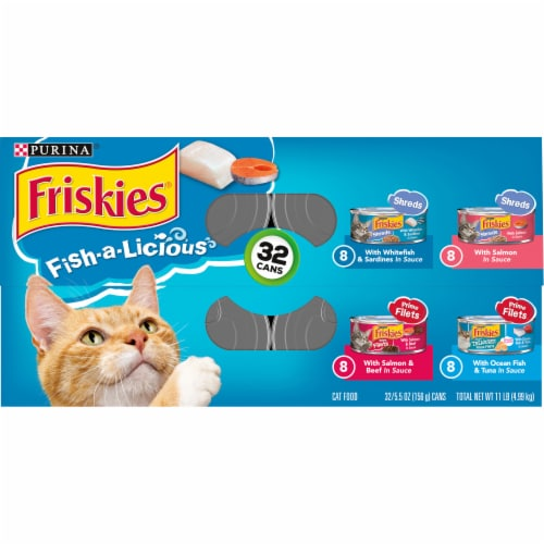 Friskies® Fish-A-Licious Prime Filets & Shreds Wet Cat Food Variety Pack Perspective: top