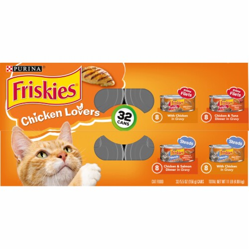 Friskies® Chicken Lovers Prime Filets & Shreds in Gravy Wet Cat Food Variety Pack Perspective: top