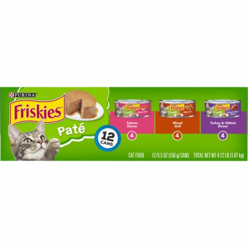 Friskies® Classic Pate Salmon Turkey & Grilled Wet Cat Food Variety Pack Perspective: top