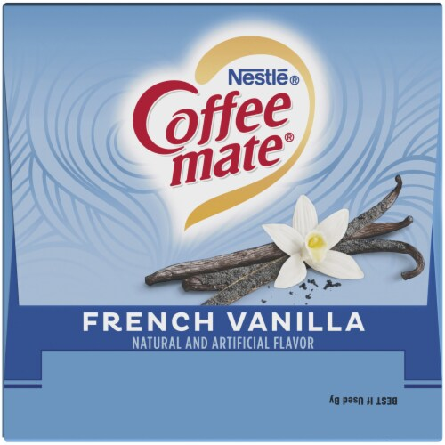 Coffee-mate French Vanilla Liquid Coffee Creamers 24 Count Perspective: top