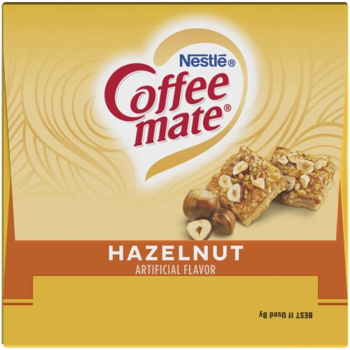 Coffee-mate® Hazelnut Flavored Single Serve Creamers Perspective: top