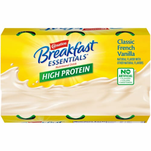 Carnation Breakfast Essentials High Protein Classic French Vanilla Drink Perspective: top