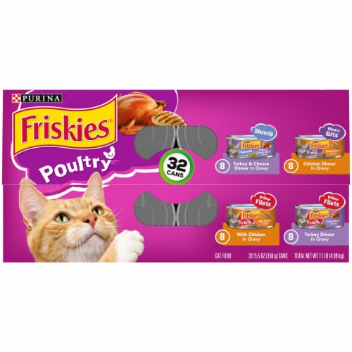 Friskies® Poultry in Gravy Wet Cat Food Variety Pack Perspective: top