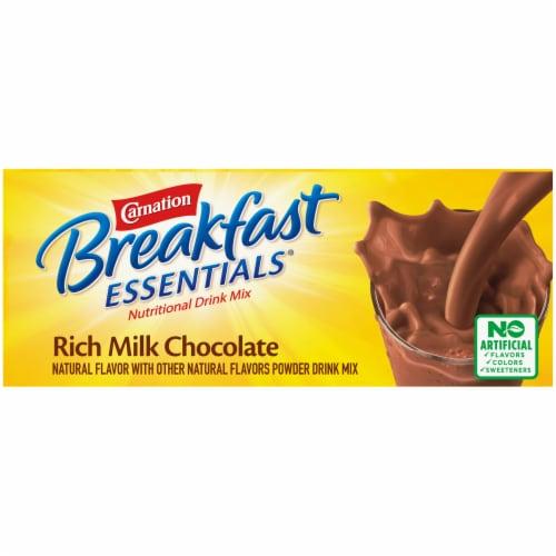 Carnation Breakfast Essentials Rich Milk Chocolate Nutritional Drink Mix Perspective: top