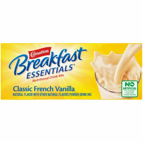 Carnation Breakfast Essentials Classic French Vanilla Powder Drink Mix Perspective: top