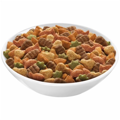 Purina Friskies Indoor Delights Dry Cat Food Bag Perspective: top