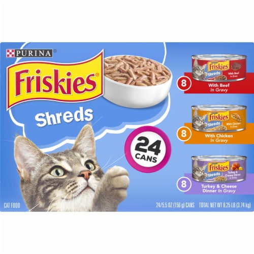 Friskies® Shreds Wet Cat Food Variety Pack Perspective: top