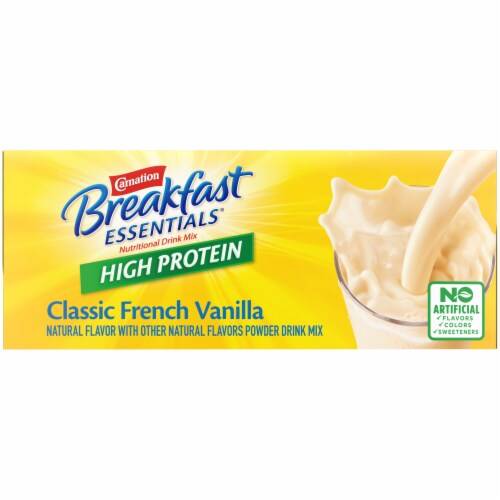 Carnation Breakfast Essentials® High Protein Classic French Vanilla Nutritional Drink Mix Packets Perspective: top