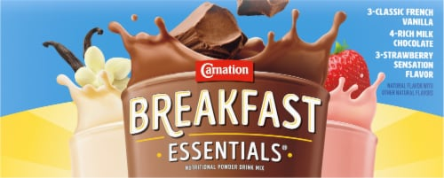 Carnation Breakfast Essentials Powder Drink Mix Variety Pack 10 Count Perspective: top