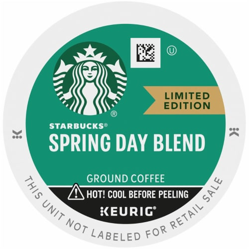 Starbucks Spring Day Blend Medium Roast Coffee K-Cup Pods Perspective: top