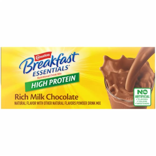 Carnation Breakfast Essentials® High Protein Rich Milk Chocolate Nutritional Drink Mix Packets Perspective: top