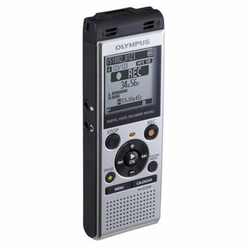 Olympus Ws-852 Digital Voice Recorder (silver) Perspective: top