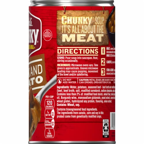 Campbell's® Chunky® Steak & Potato Soup Perspective: top