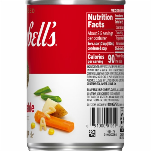 Campbell's Condensed Vegetable Soup Perspective: top