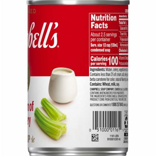 Campbell's Cream of Celery Condensed Soup Perspective: top