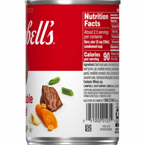 Campbell's® Condensed Vegetable Beef Soup Perspective: top