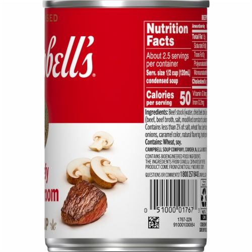 Campbell's Beefy Mushroom Condensed Soup Perspective: top