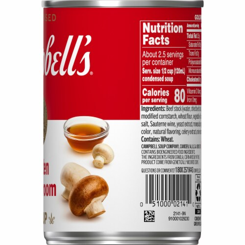 Campbell's Golden Mushroom Condensed Soup Perspective: top