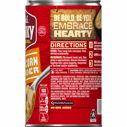 Campbell's Chunky Chicken Corn Chowder Perspective: top