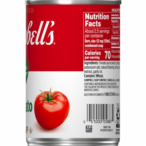Campbell's® Condensed Healthy Request Tomato Soup Perspective: top