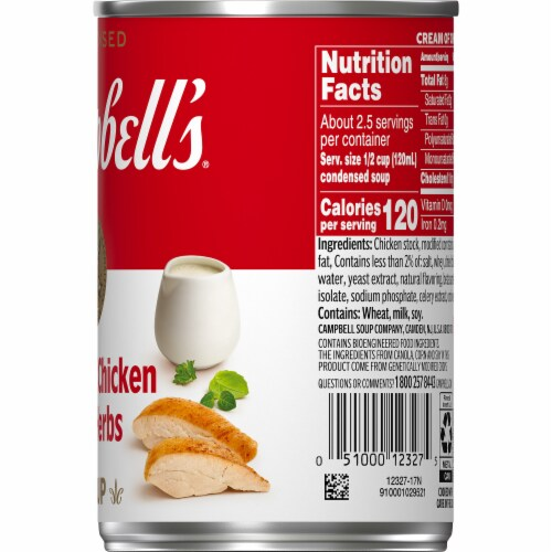Campbell's Cream of Chicken with Herbs Condensed Soup Perspective: top