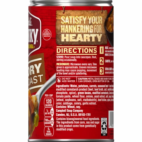 Campbell's Chunky Savory Pot Roast Soup Perspective: top