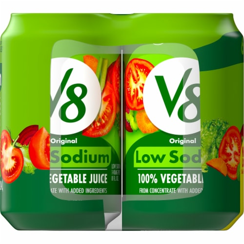 V8 Low Sodium 100% Vegetable Juice Perspective: top