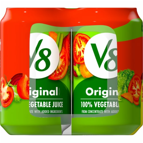 V8 Spicy Hot 100% Vegetable Juice Perspective: top