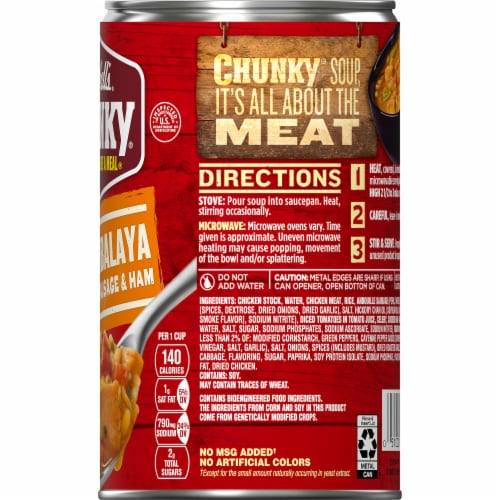 Campbell's Chunky Jazzy Jambalaya with Chicken Sausage & Ham Soup Perspective: top